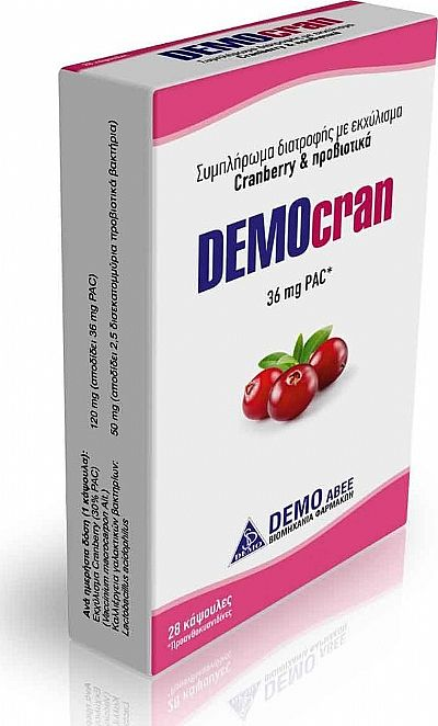 Demo Democran Cranberry 28 κάψουλες