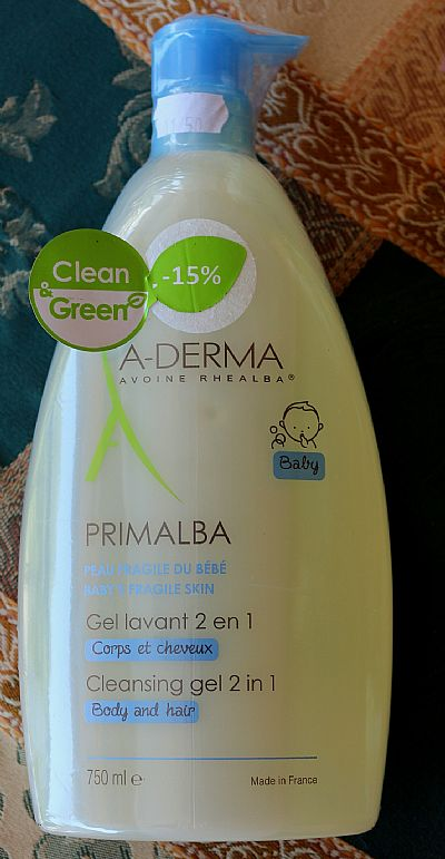 A-Derma Primalba Baby Cleansing Gel 2 in 1 Body & Hair 750ml</br> Σώμα και μαλλιά.