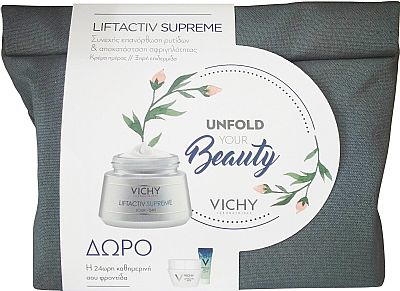 Vichy Promo Liftactiv Ξηρές 50ml & Δώρο Mineral 89 Booster 4ml & Liftactiv Nuit Supreme 15ml & Mineral 89 Eyes 1ml