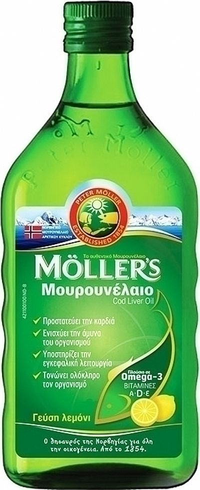 Mollers Cod Liver Oil 250ml Λεμόνι