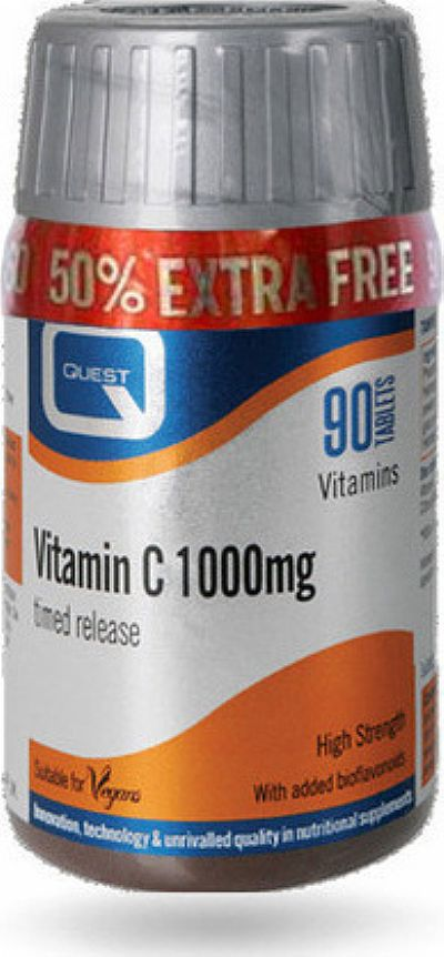 Quest Vitamin C 1000mg Timed Release 60tabs + 30tabs ΔΩΡΟ